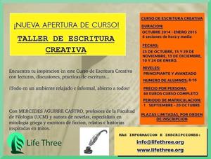 Taller gratuito de escritura creativa (free creative writing workshop) - www.lifethree.org