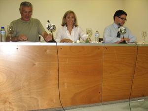 Presentation of Nuestros mitos de cada día in El Circulo de Bellas Artes. Madrid. September 2009.